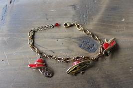 7 - 8 inch Avon Red Hat Society Charm Bracelet - $4.75