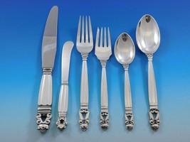 Acorn by Georg Jensen Sterling Silver Flatware Set for 8 Service Dinner ... - $4,887.50