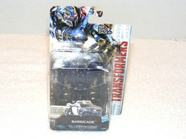 "NIB 2016 TRANSFORMER THE LAST KNIGHT BARRICADE 3"" ACTION FIGURE - $12.99"