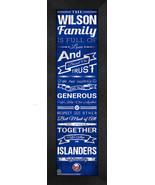 "Personalized New York Islanders ""Family Cheer"" 24 x 8 Framed Print - $39.95"