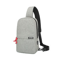 male fashion leisure canvas messenger chest bag with earphone jack - $380,45 MXN