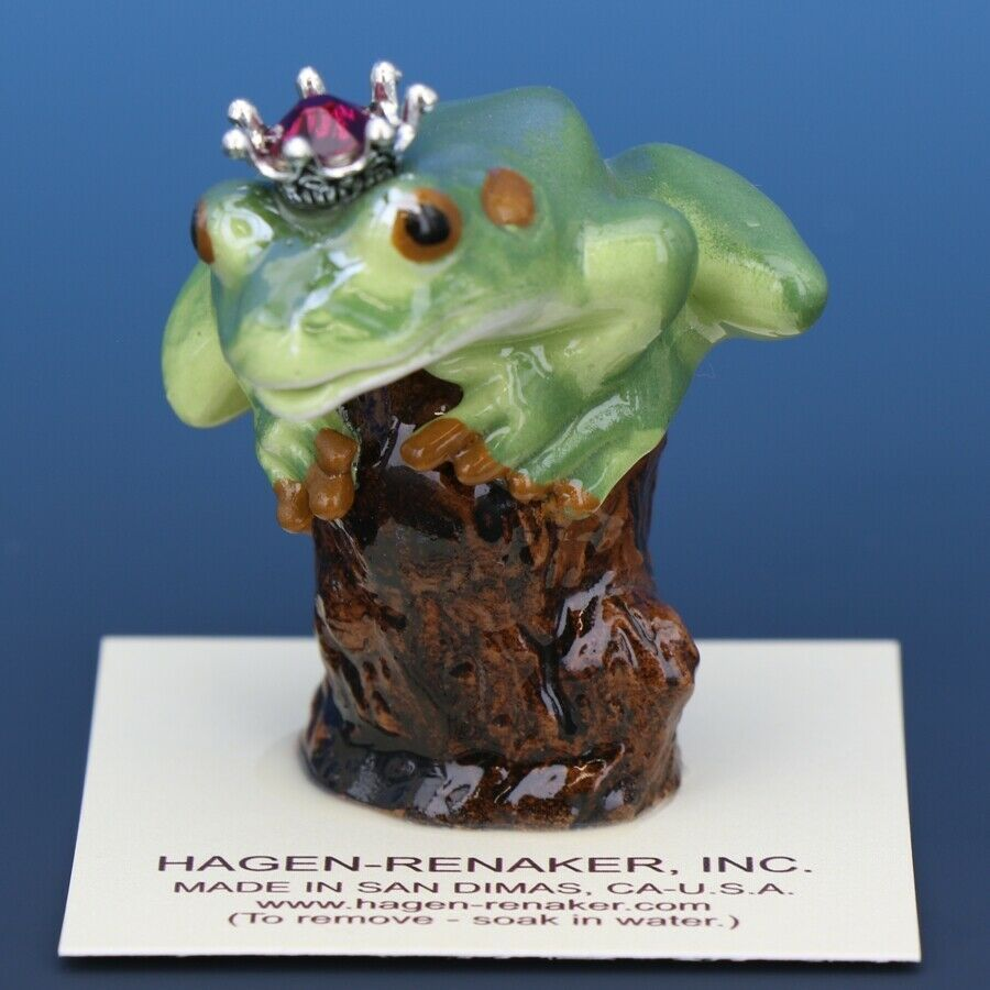 Birthstone Tree Frog Prince January Garnet Miniatures by Hagen-Renaker