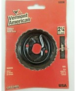 """Vermont American 18336 Carbon Steel Hole Saw, 2-1/4"""", USA - $10.99"""