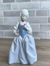 Nao by Lladro 02001719 ROCOCO GIRL WITH FLOWER Porcelain Figurine Glased... - $113.85