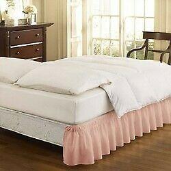Wrap Around  Ruffled Bed Skirt - EasyFit™ sephia rose