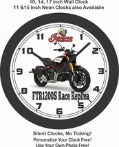 2019 INDIAN FTR1200S RACE REPLICA MOTORCYCLE WALL CLOCK-HARLEY DAVIDSON,... - $28.70+