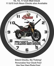2019 INDIAN FTR1200S RACE REPLICA MOTORCYCLE WALL CLOCK-HARLEY DAVIDSON,... - £22.24 GBP+