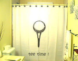 SHOWER CURTAIN Golf Tee Time golfer sport player ball - $65.00