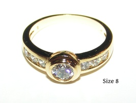 Simple Life White Topaz Engagement Ring Free Shipping - $15.00