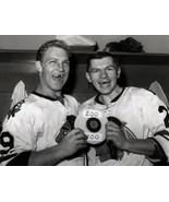 Bobby Hull Stan Mikita CTK Chicago Blackhawks 8X10 BW Hockey Memorabili... - $6.99