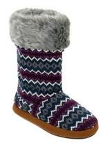 dluxe by dearfoams Cathy Sweater Knit Boots Slippers w Memory Foam Small... - €16,61 EUR