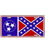 Tennessee Confederate Flag Tag Sign License Plate - $18.99