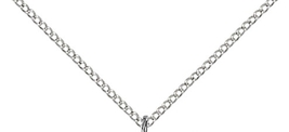 Four Way Silver Filled 4-Way Pendant on a 18 inch Light Rhodium Light Curb Chain image 3