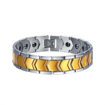U7 Magnet Buckle Bracelets 316L Stainless Steel Clasp Gold / Black Jewel... - $20.69