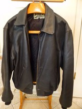 VTG Mens Black Bomber A-2 Flight AVIREX ACE Leather Motorcycle Jacket Sz... - $159.58