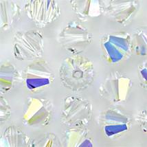 4mm Crystal AB Swarovski Xilion Beads 5328 ( 72 ) clear rainbow - $6.75
