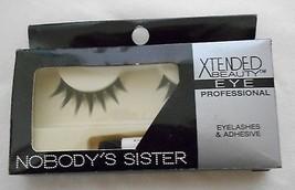Xtended Beauty Eye Professional Eyelashes & Adhesive Nobody's Sister Style - $7.71