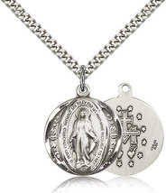 MIRACULOUS MEDAL - Sterling Silver Medal - 0017M - $53.99