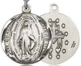 MIRACULOUS MEDAL - Sterling Silver Medal - 0017M image 2