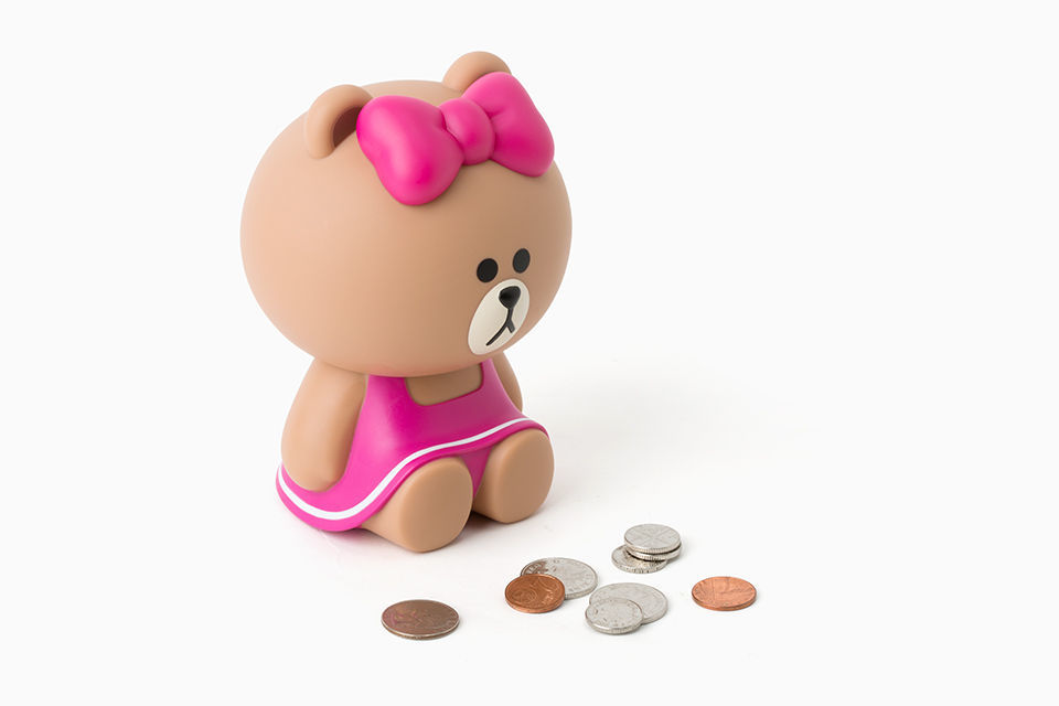 LINE Friends CHOCO Figure Coin Bank Art Toy Money Box Character Deco Home Desk