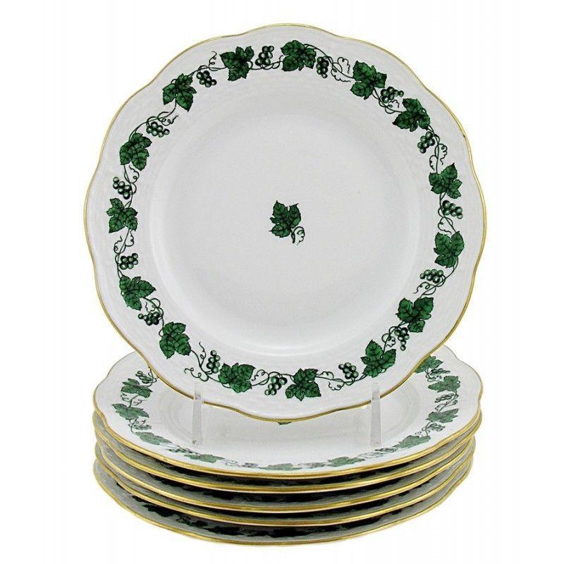 Hungarian Porcelain Herend Guirland De Raisins Bread u0026 Butter Plates Set of Six  sc 1 st  Bonanza & Hungarian Porcelain Herend Guirland De and 50 similar items
