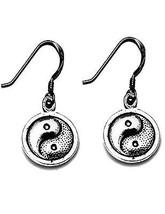 NICE Yin Yang Chinese charm dangle hook Earrings Authentic Sterling Silv... - $314,99 MXN