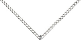 NAIL MEDAL PENDANT - Sterling Silver & Chain - 0053 image 3