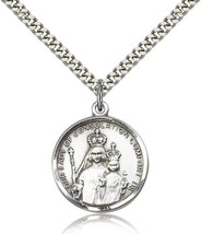 OUR LADY OF CONSOLATION MEDAL- Sterling Silver Medal & Chain - 0038 - $67.99