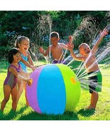 Inflatable Kids Water Outdoor Summer Beach Pool Play The Lawn Balls Smas... - $26.72