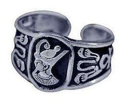NICE Sterling Silver Egyptian Pharaoh Ring egypt King tut - $37.69