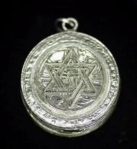 NICE Sterling Silver .925 Pill Box Jewish Star of David Chai - $113.09