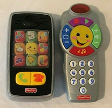 Fisher Price Toy Lot Laugh and Learn Click Learn TV Remote Smilin Smart ... - $17.99
