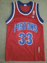 Vintage Pistons 33 Hill Champion NBA Jersey Size S 6-8 - $15.00
