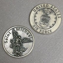 Saint St. Michael Token Coin Protection Protect United States Air Force Medal - $6.49