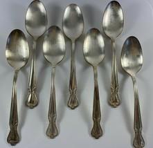 Vintage Rogers & Bro IS DAYBREAK Silverplate Flatware 7 Soup Spoons - $19.79