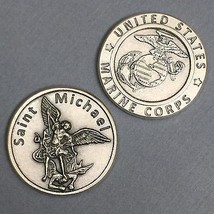 Saint St Michael United States Marine Corps Protect Protection Coin Token Medal - $6.49