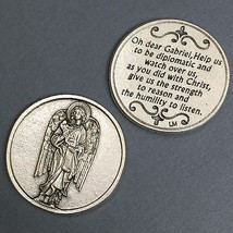 Archangel Gabriel Pocket Token Protect Protection Devotional Prayer Coin Medal - $6.95