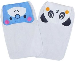 2 Cute Bear/Panda Baby Cotton Gauze Towel Wipe Sweat Absorbent Cloth Mat Towel