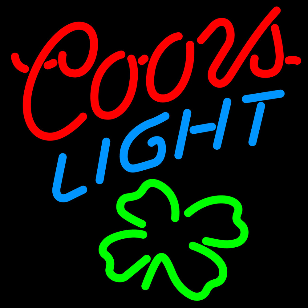 Coors Light Shamrock Neon Sign - Neon