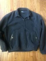 Mens Large Polo Ralph Lauren Dark Gray Fleece Zip Jacket  - $32.67
