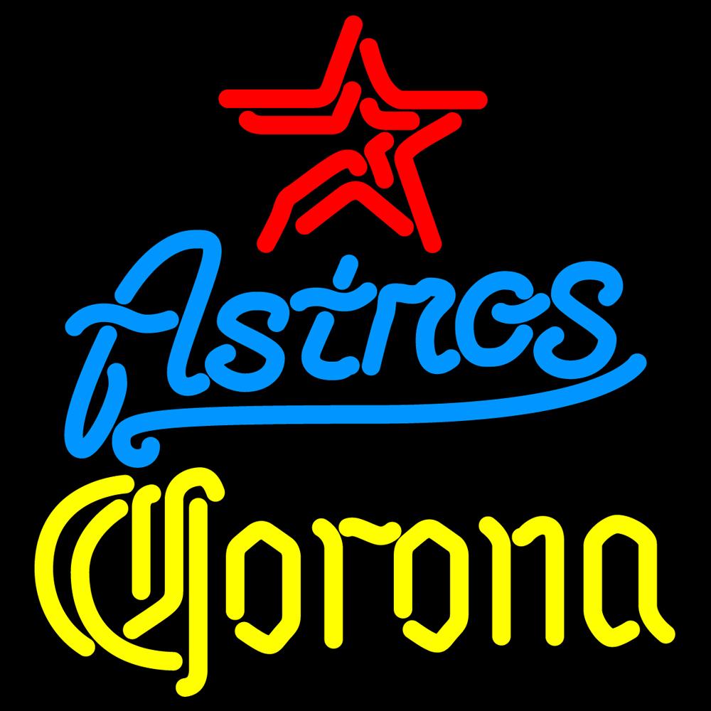 MLB Corona Houston Astros Neon Sign