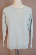 VINCE | Boatneck Slub Cotton Sweatersz S — shirt women's aqua $145 -st... - $833,47 MXN
