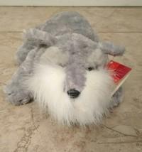 "Russ Flopples 8"" Plush Schnauzer Gray & White Dog NWT - $14.06"
