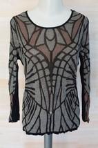 NIC+ZOE | 'Glass Windows' Knit Top women's shirt sz PL - Multi $128 -sna... - $39.59