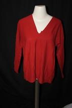 Vince Double V Cashmere Sweater sz S $245 women's v-neck cozy RED front ... - $1.296,62 MXN