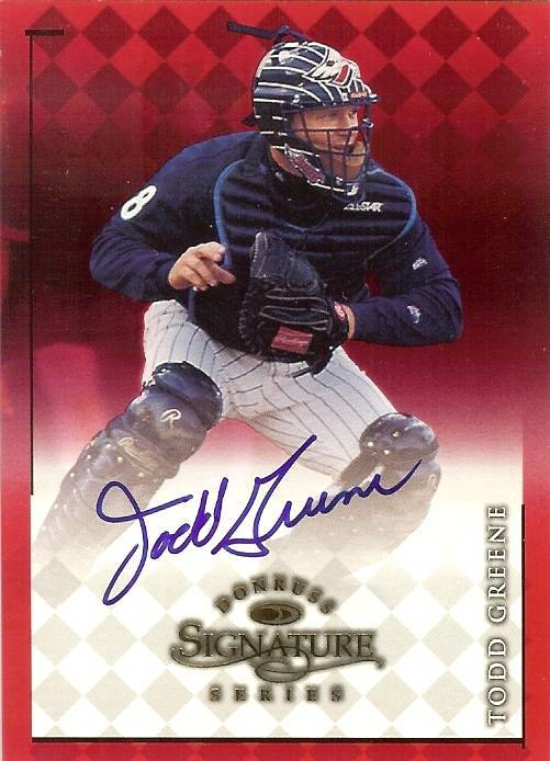 Primary image for 1998 donruss signature todd greene angels baseball card
