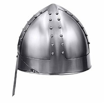 MEDIEVAL NORMAN NASAL Warrior Helmet One Size Fits Most Silver ADULTS FIT  - $55.00