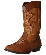 Rampage Frida Cowboy Boot Little Kid/Big Kid, Two Tone Tan, 13 M US Litt... - $57.71