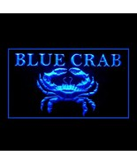 110253B Blue Crab Seafood Fish Market Clamp Fresh Sweeter Platter LED Light Sign - $29.99