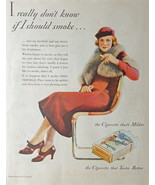 Chesterfield Cigarette, 1933 original magazine ad. scarce old ad. Print ... - $18.99